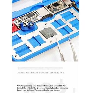 Image 3 - 12 ב 1 MIJING A22 + האם תיקון מתקן PCB לנענע בעל לוח עבור iPhone 5S/6/6 s/6SP/7/7 P/8/8 P/XR תחזוקה פלטפורמה