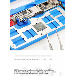 Image 3 - 12 IN 1 MIJING A22 + Moederbord Reparatie Armatuur PCB Houder JIG BOARD Voor iPhone 5 S/6/ 6 S/6SP/7/7 P/8/8 P/XR Onderhoud Platform