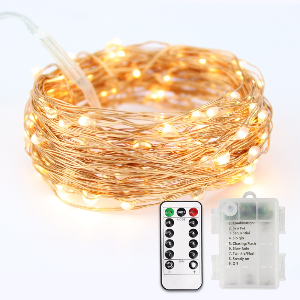 5M/10M Copper Wire LED String Light With Remote Control Flexible Waterproof Starry Lights For Holiday Xmas Wedding Party JQ