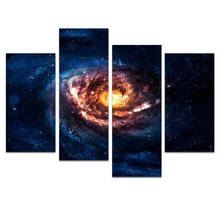 Abstract Universe Space Wall Art,Landscape Painting Picture Design Printed on Canvas ,Galaxy Wall Decor Artwork