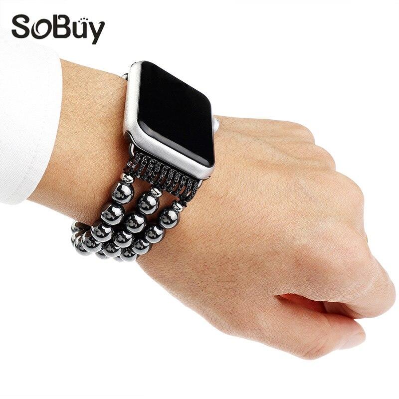 Aliexpress.com : Buy for Apple Watch black stone strap