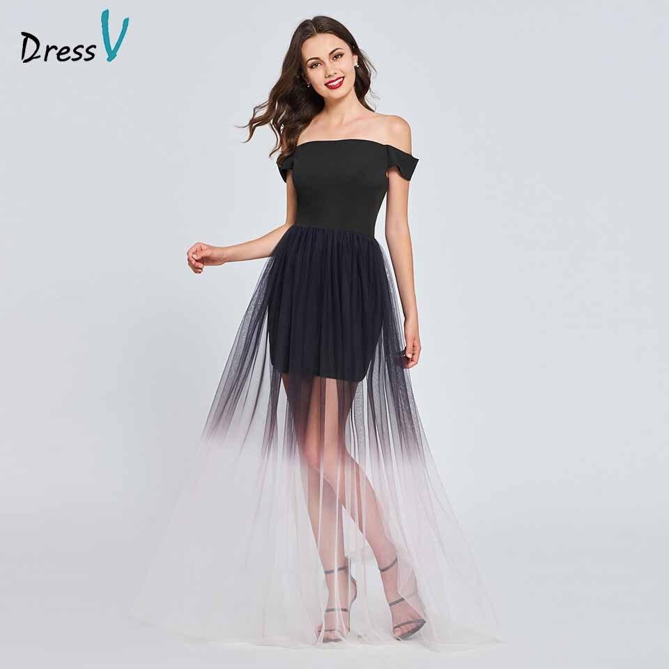 Dressv Черный homecoming платье с открытыми плечами складки Длина до пола на молнии линия homecoming & Выпускные платья