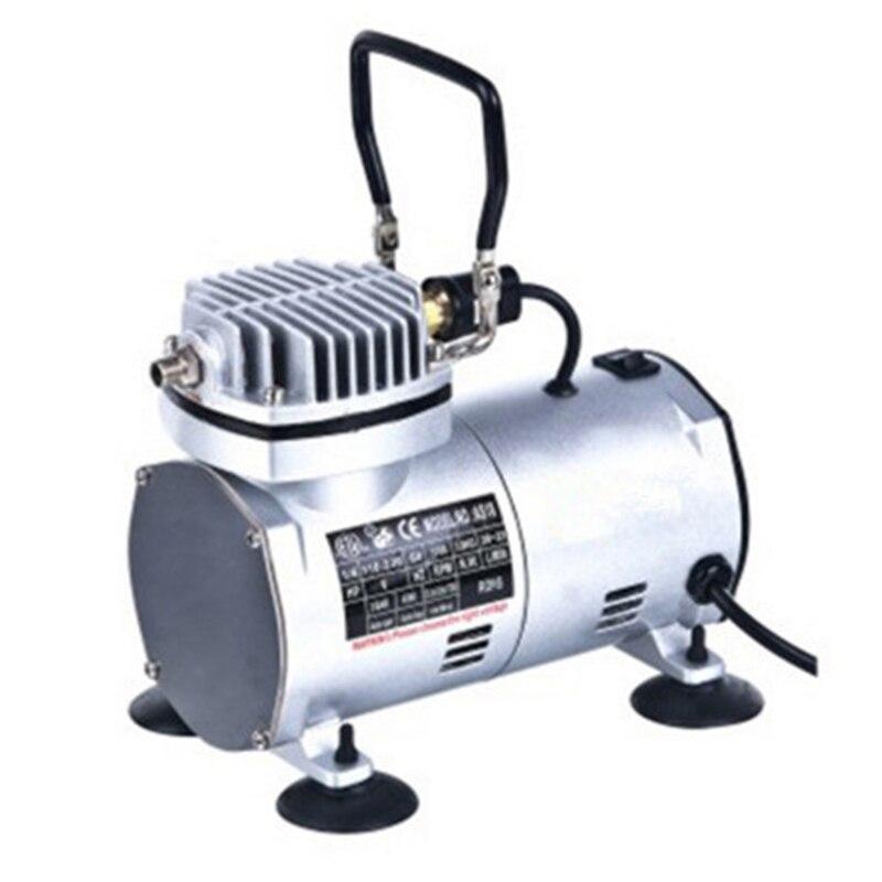 ФОТО 50HZ 220V AC 20-23L/MIN 1/6HP Small Electric Piston Vacuum Pump Airbrush Compressor MS18