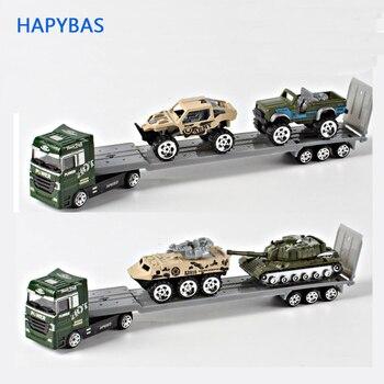 Ze stopu laweta 1 64 armii samochód z samochodów pojazdów model samochodu z ze stopu metali przewoźnika zabawki prezent kolekcja