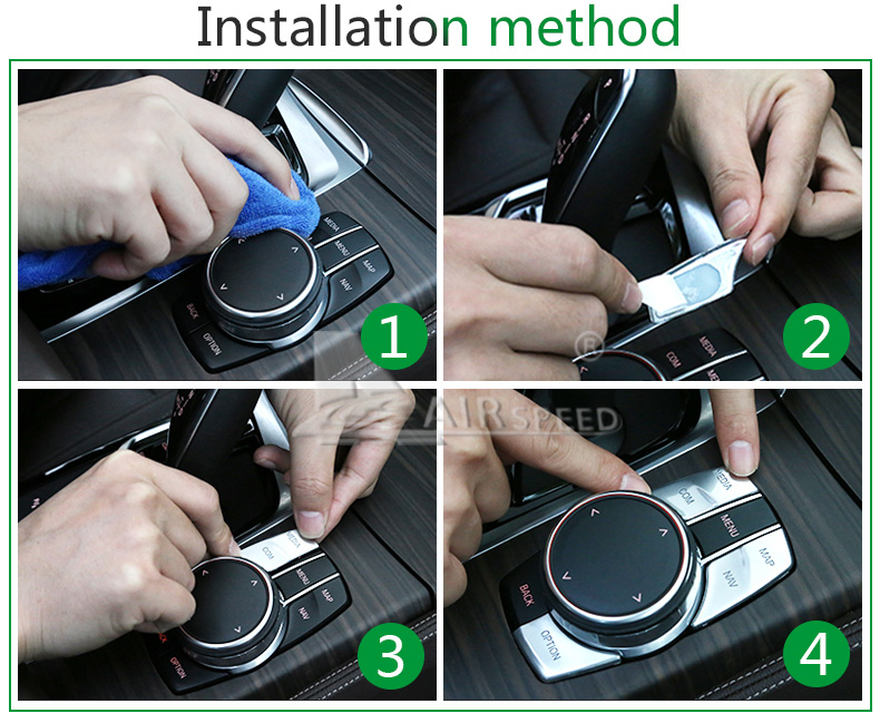 Airspeed for BMW 5 Series G30 528i 530i 540i Accessories Car Multimedia Buttons Cover ABS Interior Decoration Car Styling (16)