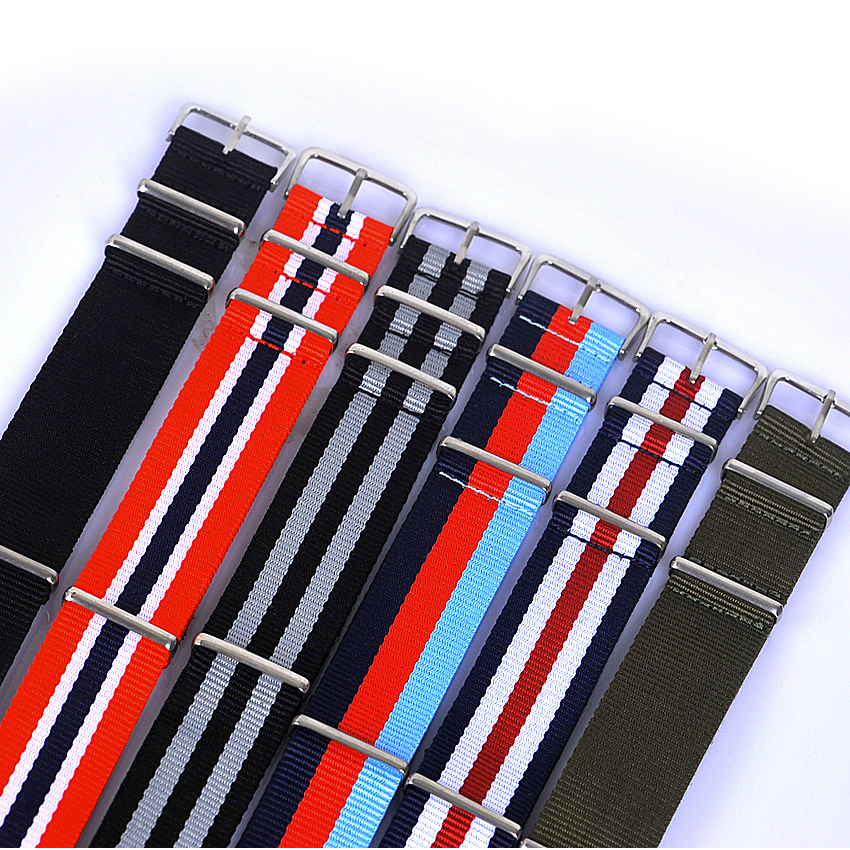 Retail-New Arrived 1pcs 22MM nylon watchband waterproof Straps, wrist watchband ,sport NATO watch band Multi color for choose crystal glass panel touch light wall switch 2 gang with remote controller black color