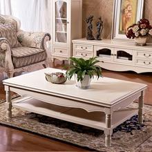 All solid wood coffee table European-style living room double environmental Nan Yixuan pure cedar tea teasideend
