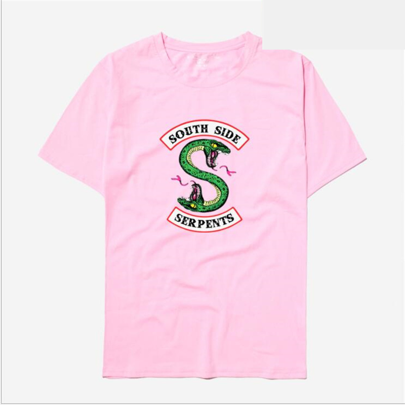 Riverdale Southside Serpents T Shirt Men Women Summer Short Sleeve Cotton tshirt Streetwear Hip Hop Hipster Cool Tee Shirt Homme