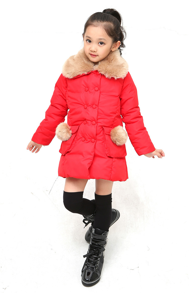 Free shipping winter girl imitated fur coat lapel cotton-padded clothes double-breasted outerwear girl coat children clothing 50mm edf a10 warthog rc airplane model kit w 870mm wing span