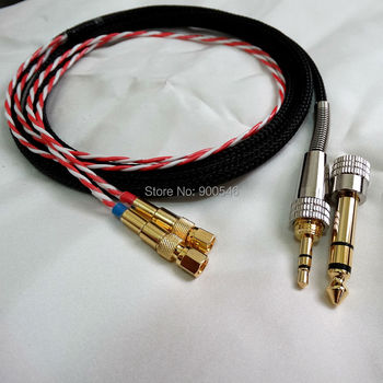 1.2m 4ft FURUKAWA Furutech Silver Plated with Shield Headphone Cable Upgrade Cable For HIFIMAN HE-5 HE-6 HE-400 HE-500