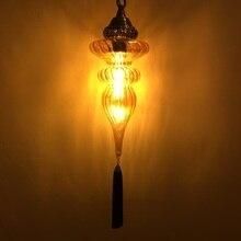 Новейший стиль, Турецкая Этническая кофейная лампа, романтическая Подвесная лампа для кафе, ресторана, бара, дерева, креативный подвесной светильник для бара