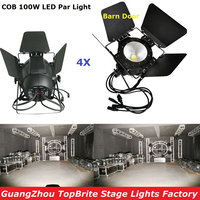 4XLot LED COB Par Light 100W High Brightness Aluminium Case White and Warm White 100W COB LED Par Light For Stage Disco Lights
