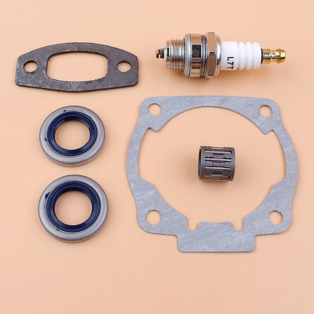 Cylinder Muffler Gasket Oil Seal Bearing Spark Plug Kit For Husqvarna 50 51 55 Rancher Chainsaw Parts