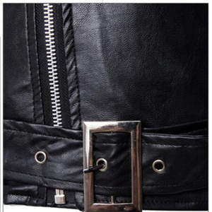 Image 5 - The Walking Dead Negan Black White PU Leather Jacket Coat Men Adult Halloween Cosplay Costume Winter Spring Autumn Coat