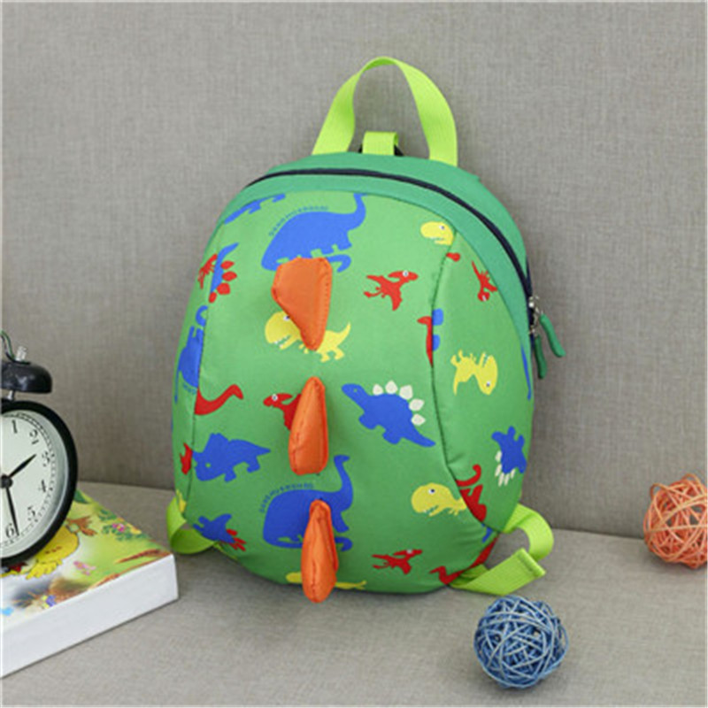 HIINST Baby Fashion Green Popular Dinosaur Pattern Plush Backpacks Boys Girls Kids Backpack Dropship CC#