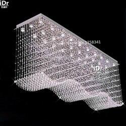 Darmowa wysyłka prostokątne lampy kryształowe duży żyrandol oświetlenie lustre nowoczesny światła do domu