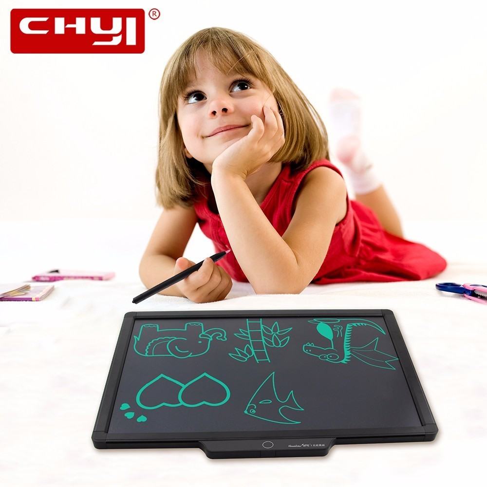 CHUYI 20 Inch Digital Writing Board LCD Electronic Graphics Tablet Drawing Pad Memo Bulletin board for Teaching Business portable colorful lcd writing drawing board tablet pad notepad electronic graphics digital handwriting with stylus pen