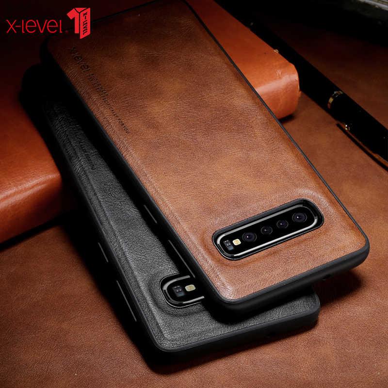 Кожаный чехол X-Level для samsung Galaxy S10 Plus, оригинальный мягкий силиконовый край, задняя крышка для телефона samsung S10 S10e S10 + чехол