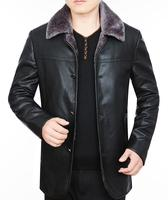 Cuero de oveja de invierno mapache hombres Pieles de animales hombres alta calidad engrosamiento color sólido terciopelo abrigo Parkas