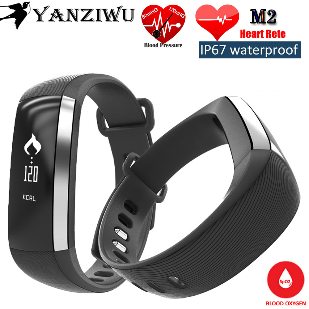 Bluetooth Watch M2 Smart Band Bracelet Blood Pressure Oxygen Oximeter Heart Rate