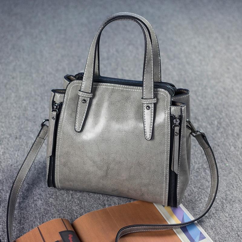 Brand Design Women Fahion Handbag Shopping Tote Bag Lady Genuine Leather Shoulder Bag High Quality Bag Bolsa Feminina Female Bag