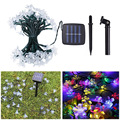 50 LEDS 7M Sakura Flower Light String Solar Powered LED String Fairy Light Garland Garden Christmas Decor Lighting Indoor Outdoo