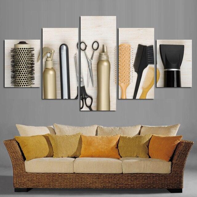 Efek Realistis A Rambut Alat Gambar Cetak Pada Kanvas Lukisan Modern R Tidur Ruang Tamu Dekorasi