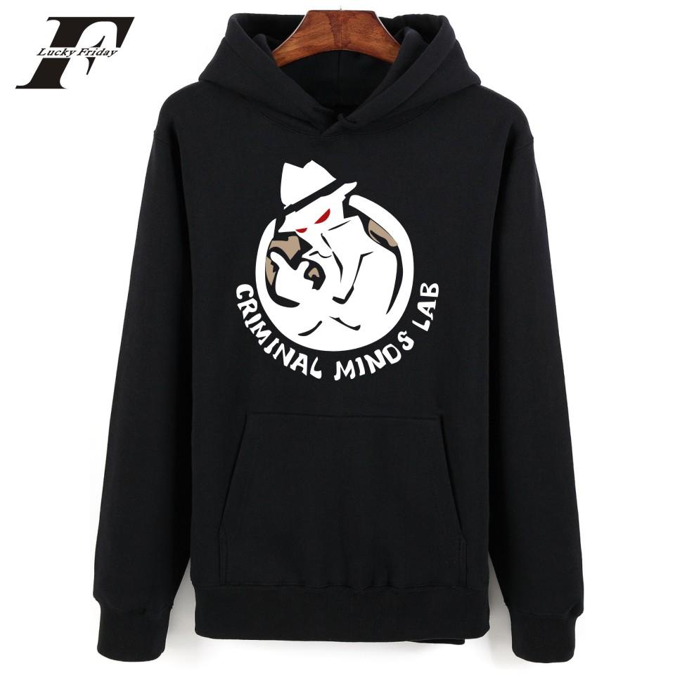 2017 Criminal Minds printed oversized Hoodies Sweatshirts men women survetement Mens tracksuit casaco masculino cotton moleton