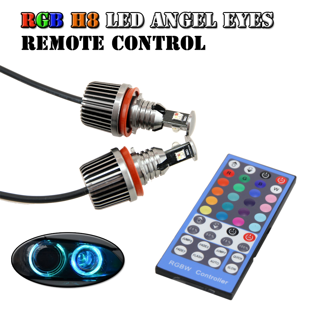 RGB remote Multi-Color LED Angel Eye Kit for BMW E90 E91 E92 E93 E82 E87 E60 E61 E63 color change H8 led marker halo light 4x xenon rgb remote multi color led angel eyes kit for bmw e90 2006 2008 e60