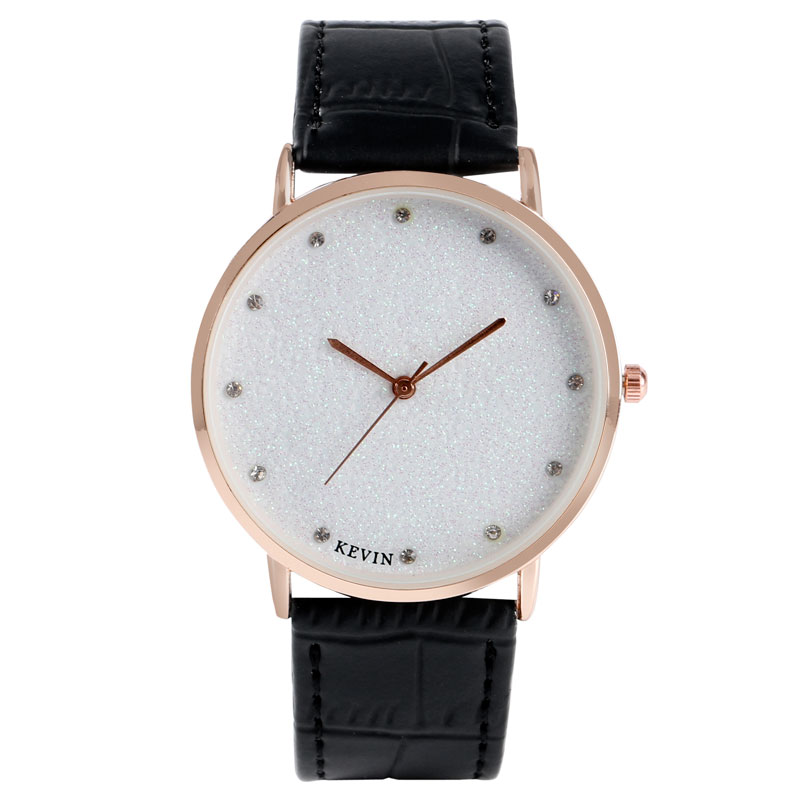KEVIN Simple Wristwatch Women Blooming Glitter Dial Crystal Quartz Watch for Ladies Girls Casual Elegant Thin Female Clock Hours
