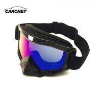 CARCHET Motocross Brille Brille winddicht staub-proof motorrad brille TPU nase schutz skifahren reiten gläser 3 farben