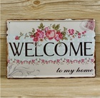 Welcome Home Poster Vintage Metal Tin Signs Home Garden Wall Decor 20x30CM