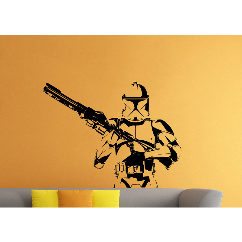 Effet 3D STARWARS Xwing Fenêtre Sticker Autocollant Mural Art Autocollant Vinyle