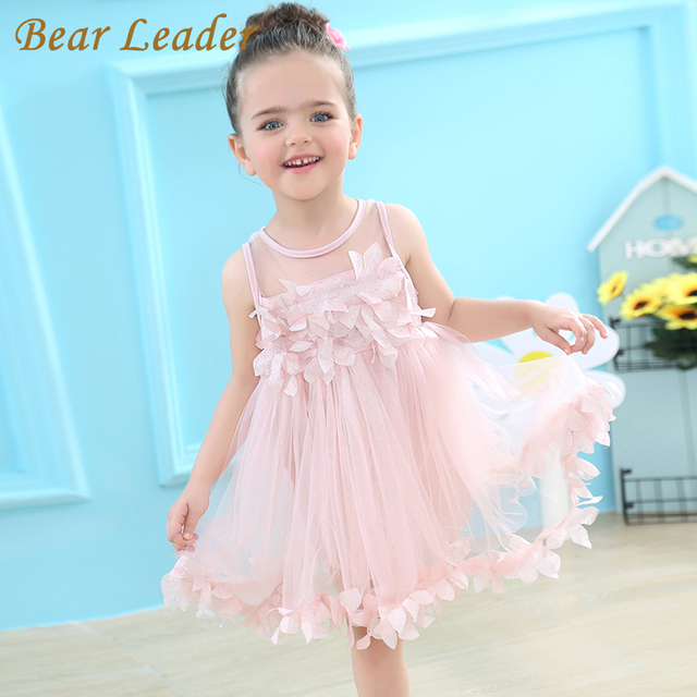 Flower Petals Dress Pink/White
