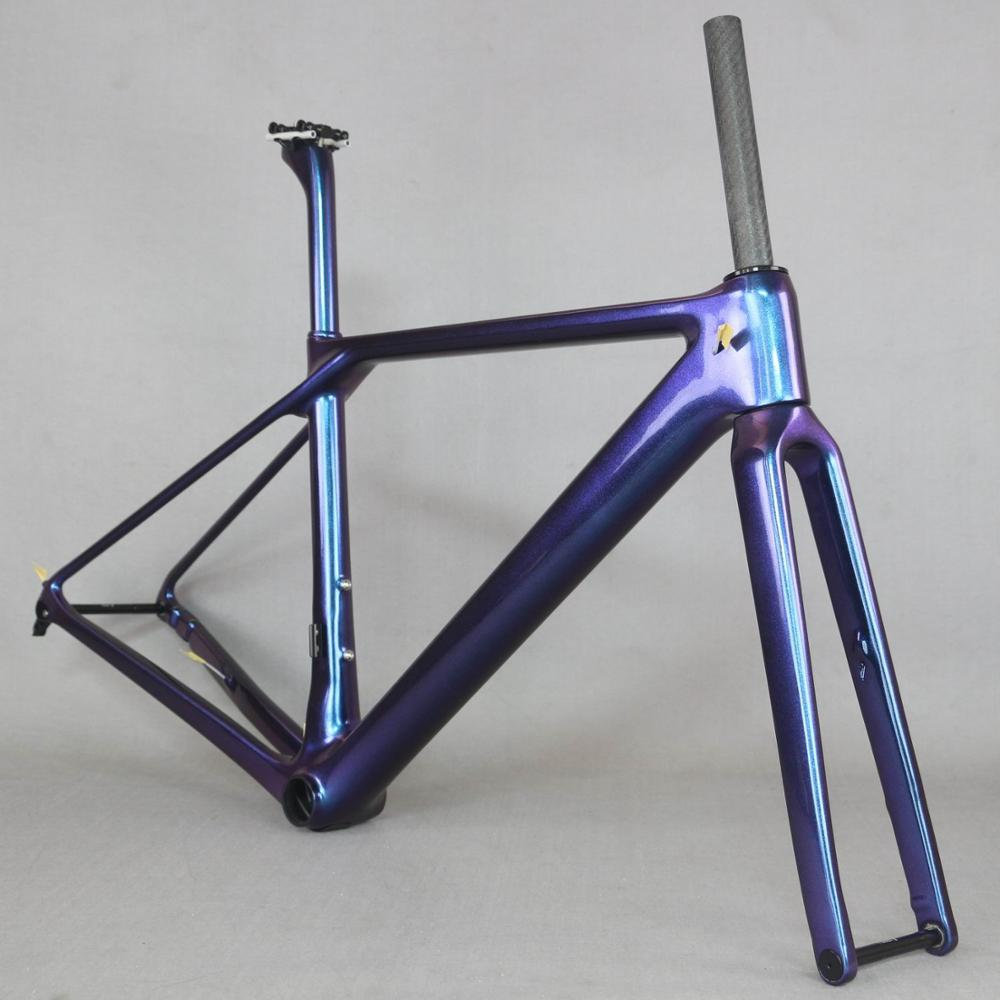 Chameleon Flat Mount Disc Carbon Road Frame  Bicycle  FM009 Axle Thru   New EPS Technology Disc Road Bike Frame Custom Paint