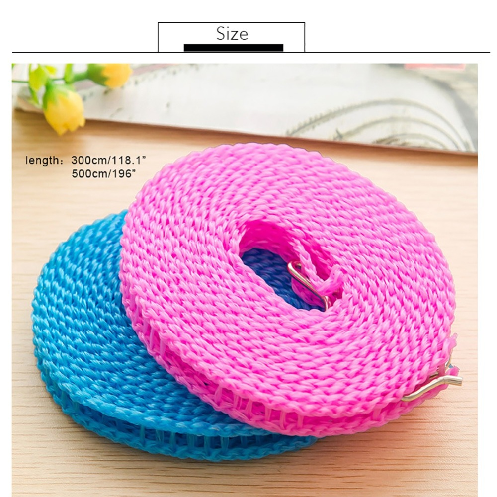 Portable Clotheslines Clothes Drying Rope Laundry Windproof Non slip Washing Clothes Line Random Color For Outdoor Travel Busin in Clotheslines from Home Garden