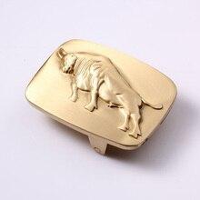 40mm Vintage Bull Copper Solid Brass Horseshoe Belt Buckle DIY Leathercraft Metal Accessories 53