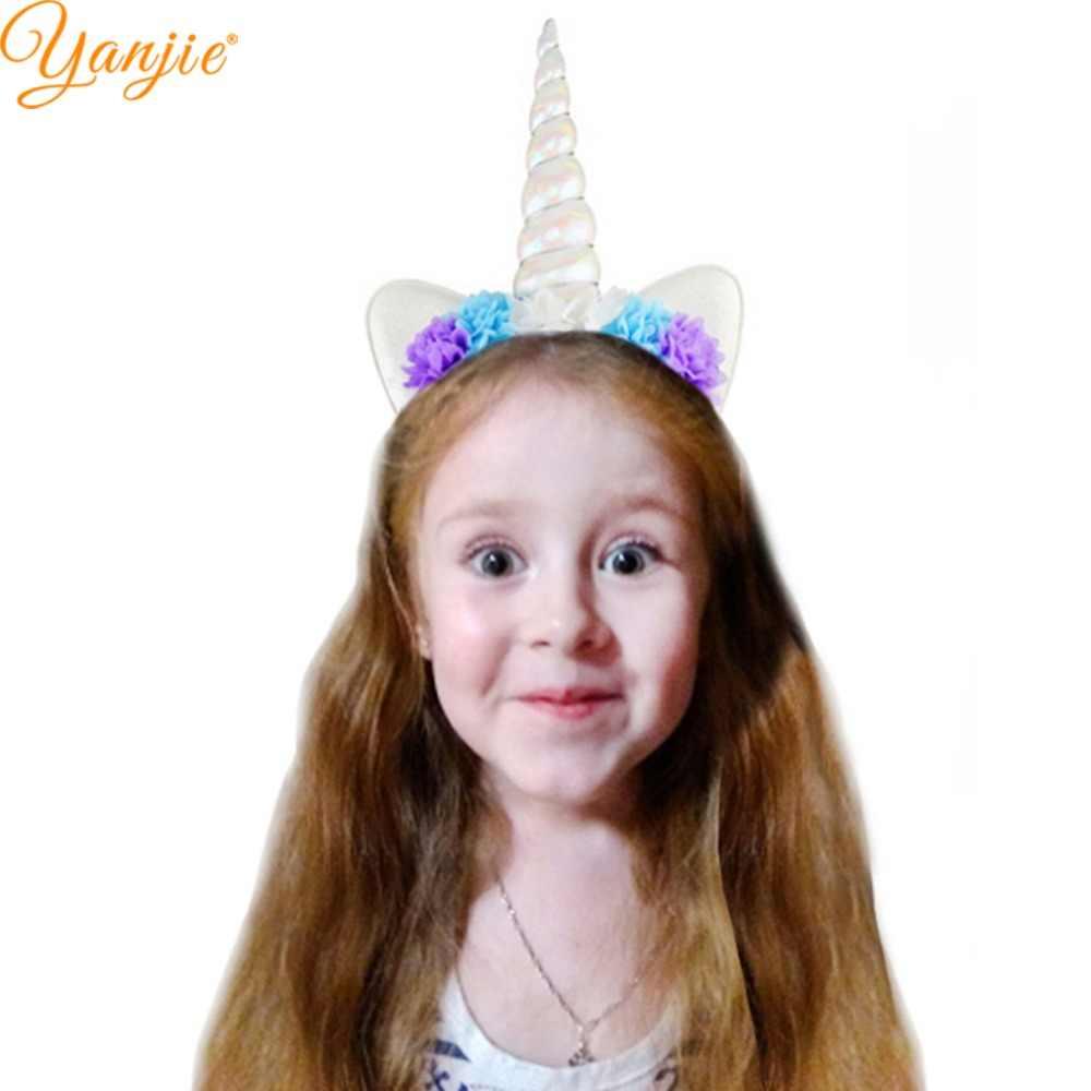 Gökkuşağı ünikorn Kızlar Için Kafa Bandı Glitter Yastıklı Unicorn Boynuz saç bandı 2019 Çocuk Doğum Günü Partisi Kadınlar DIY saç aksesuarları