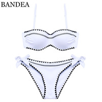 BANDEA Brand Bikinis 2017 Women Swimwear Bikini Set Bandage Push Up Cross Stitch Summer Bikini Hand