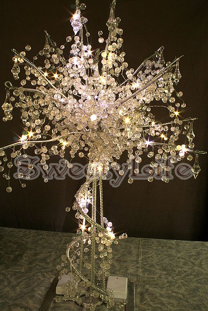 90cm Tall Acrylic Crystal Wedding Tree Centerpiece Christmas Trees Party Props