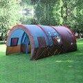 1x480*310*210 cm grande camada doule túnel tenda 5-10 pessoa acampamento ao ar livre da família casa de festa caminhadas caça pesca barraca do turista
