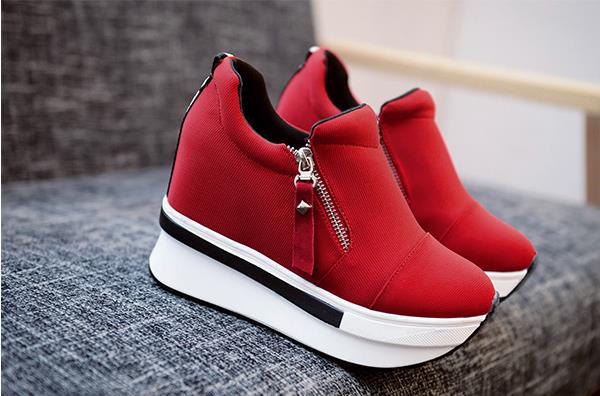 À Coréenne Épaisses Simples rouge L'augmentation Femmes Shaker Éclair 2018 Double Casual Fermeture L'intérieur Noir De Des Nouvelle Chaussures La Semelles Version qF8E6Y