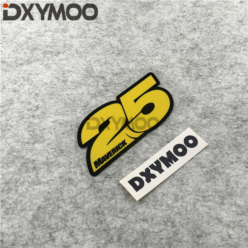 Moto GP Rider Stickers Reflective Car Styling for 25 MVX MAVERICK VINALES GSX-R1000 120x54mm