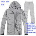 Outdoor sports sunscreen anti-UV breathable summer fishing clothes suit