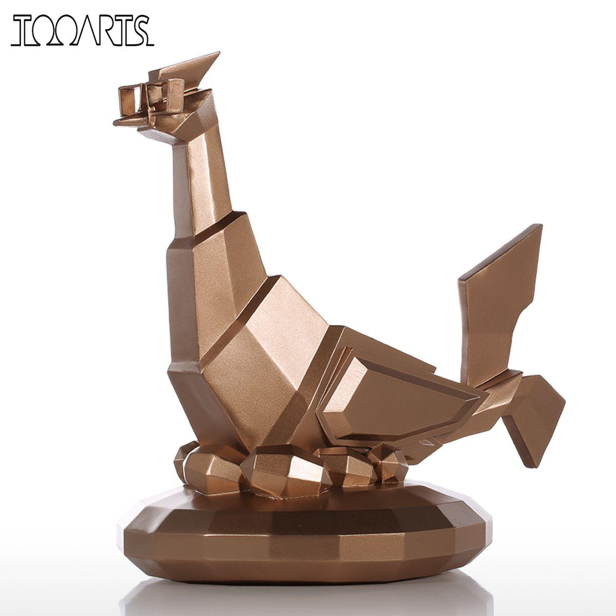 tooarts modern sculpture glasses chicken resin sculpture home decor modern art figurine animal. Black Bedroom Furniture Sets. Home Design Ideas
