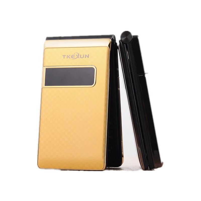 Цена за TKEXUN G9 Женщин Раскладной Телефон С Двойной Двойной Экран Камеры 2.4 дюймов Экран Роскошный Сотовый Телефон