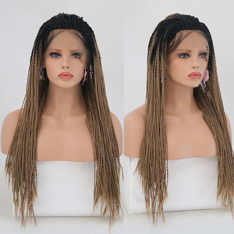 Charisma Twist Synthetic Lace Front Wigs Ombre Hair Color With Dark Roots With Baby Hair Heat