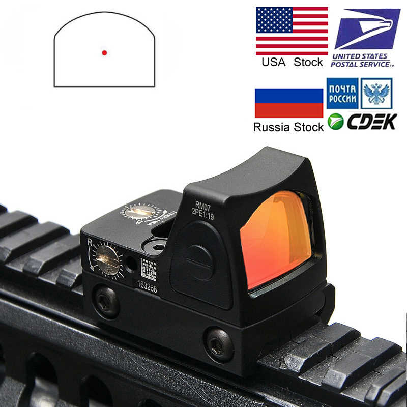 מיני RMR RED Dot Sight Collimator גלוק/רובה רפלקס Sight fit 20mm יבר רכבת לאיירסופט/ ציד רובה