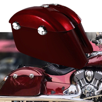 Motorcycle Motobike Red Saddlebag Electronic Latch Lids For Indian Chieftain 2014 2018 Roadmaster 15 18 Springfield Dark 16 18