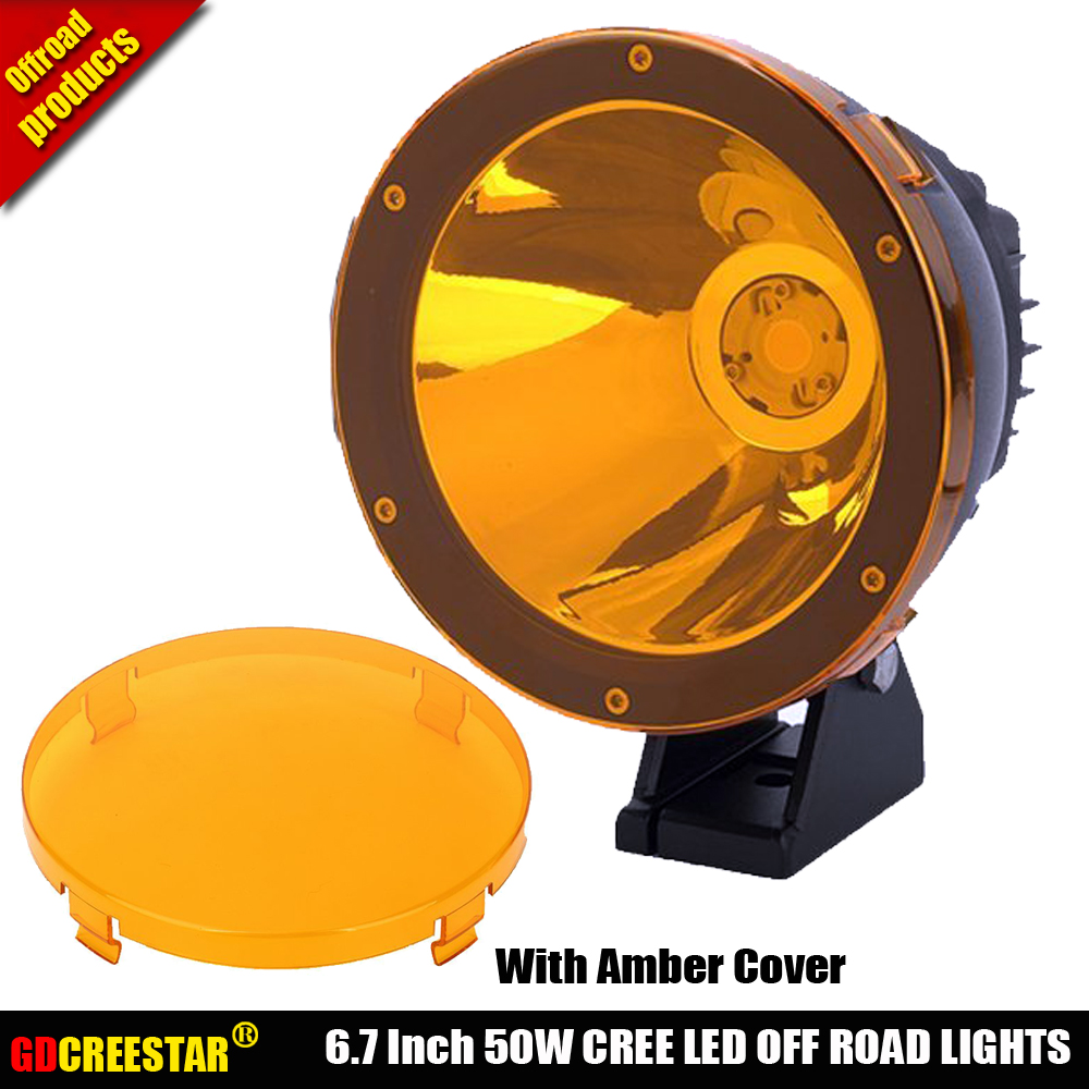 6.7 inch Cannon Offroad light 24V 50W LED Narrow Beam Spotlight 50W 4x4 Led OFF ROAD lights For Car Truck Suv ATV TJ JK 4WD x1pc 7inch 45w led cannon lights round spot driving spotlight work lamp with focused beam for suv 4wd off road truck suv atv offroad